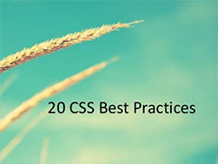 20 CSS Best practices every developer should know